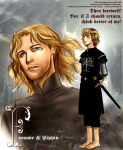 Faramir and Pippin by idolwild
