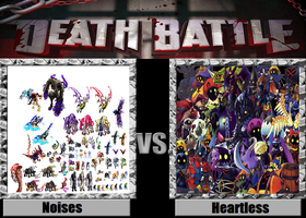 Death Battle idea Noises vs Heartless by kingdomofsantiago1