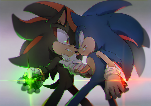 sonic and shadow 5 by aoki6311