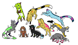 1 point dog adoptables CLOSED by AmazingAdoptablez