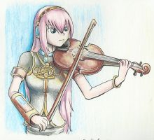 Luka with a viola by Aki-rain