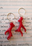 Coral earrings by lava-tomato