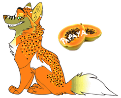 Papaya Wolf Adoptable .:Closed:. by Love-Adopts