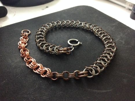 17 inch Copper Tail Boxweave Choker by omardumore