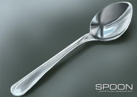 Digital Drawing Practice #1 - Spoon by devil-of-my-own
