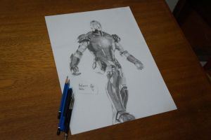 Iron Man - I still will do a background. by AntonioNT