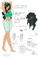 [Horror/CP OC] Ariel Reference by ThePlantGod