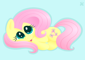 Sleepy Fluttershy by giantsquidie