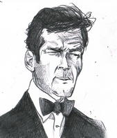 roger moore by pineapplemike