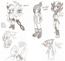 Night Doodles- Mixed Old Stuff by Mdpikachu