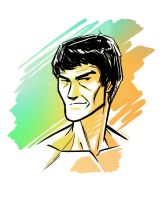 Bruce Lee by AndrewKwan