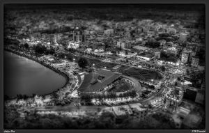 Lahijan  pool  BW by danandeh