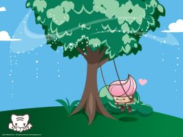 Swingin' Cupcake Wallpaper by lafhaha