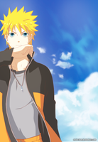 Naruto a bird in the sky by Maio-kun