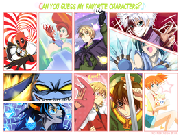 Guess my favorite characters by Niconekoness