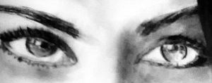 charcoal female eye close up by blacknimproud