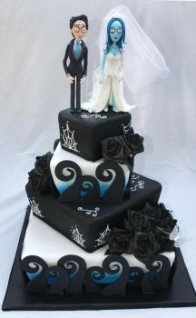 Corpse Bride Wedding Cake by Verusca