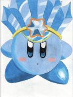 Ice Kirby by CrunchyPopcorn