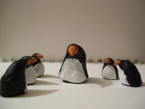 Clay Penguin Group by azerbijahn