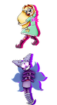 Star Butterfly and Mewberty Star by LaughterLover