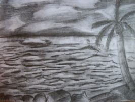 Beach Landscape drawing by LauraHaro1994