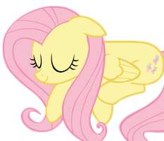Sleeping Fluttershy Vector by AncientKale