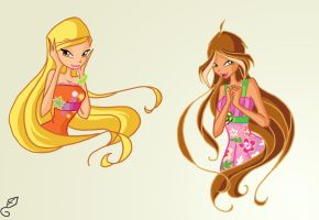 Stella and Flora by fantazyme