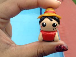 Kawaii chibi luffy  charm by Saloscraftshop
