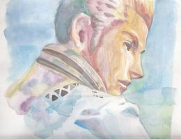 Wtercolor Of Balthier by Amanoobaricom