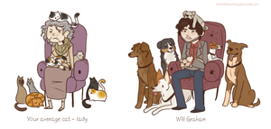 Cat lady vs Will Graham by FourDirtyPaws