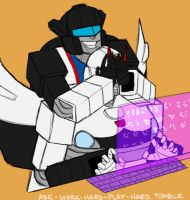 Ask Jazz and Prowl by o-rlyization