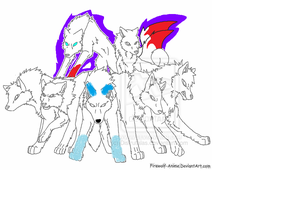 Blood Moon Wolf Pack collab by RyderArts