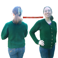 Knitted One-Piece Sweater 1, Green by FayardHandMadeCrafts