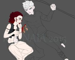 WIP OC and Jack by kijonaia