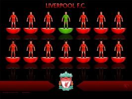 LiverpoolFC Subbuteo Warrior home kit by kitster29