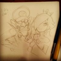 Waluigi and Rosalina 001 by Omar-Dogan