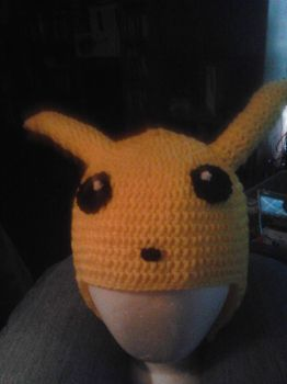 Pikachu Hat (eyes and nose) by AngelofMusik22