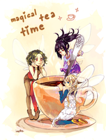 magical tea time by p-ivetto