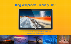 Bing Wallpapers - January 2016 by Misaki2009