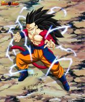 Son Goku True ssj4 fight pose by bejita135
