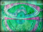masterplan for the cosmic  santocity  ,pink circle by santosam81