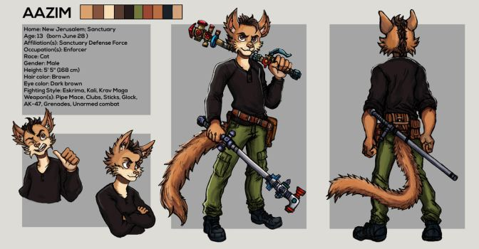 Aazim - Ref Sheet by TheLivingShadow