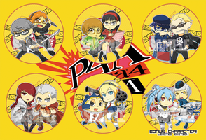 Persona Mayonaka Arena Buttons by seiryuuden
