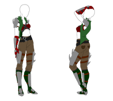 Female Fist Fighter Outfit - SOLD by ShadowInkAdopts