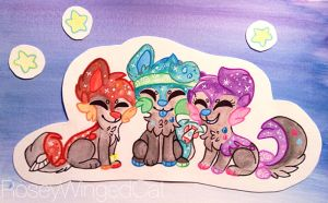 Sushi Dog DTA 3 (watercolor) by RoseyWingedCat