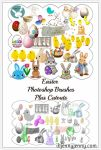 Free Easter Photoshop Brushes plus Cutouts by ibjennyjenny