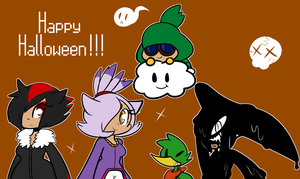 Happy Halloween from us Nerds! by DuckyDeathly