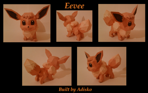 Eevee Paper Pokemon by Adisko