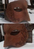 WIP: Leather Rose Mask by Rebecca-Grant