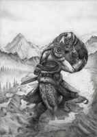 The Elder Scrolls V: Skyrim Dovahkiin by Bajanoski